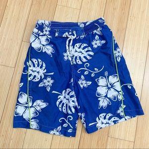 Boys tropical bathing suit swim trunks, 6.